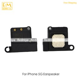 Wholesale Earphone Repair - 50pcs lot For iPhone 5G 5S Ear Earspeak Jack Flex Cable Ribbon Earpiece Headphone Earphone Audio Jack Replacement Repair Phone Part Original