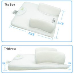 Wholesale Vented Sleep Positioner - Wholesale- 2016 Baby Infant Newborn Anti Roll Pillow Sleep Fixed Positioner System Prevent Flat Head Cushion Ultimate Vent Baby Pillow