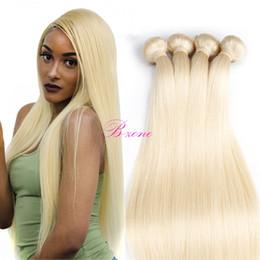 Wholesale Brazilian Blond Weave - Brazilian Straight Hair Weaves 613 Blond Hair Extensions Virgin Human Hair Weft Double Weft 3pcs lot Top Grade