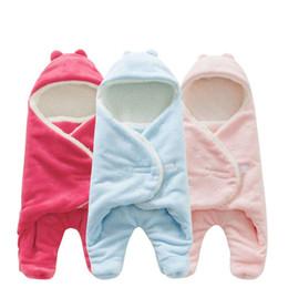 Wholesale Star Fleece Blanket - Baby Sleeping Bag 68*80cm Coral Fleece baby swaddle blanket Winter Footmuff Saco Bebe Cochecito Dormir Sac De Couchage Enfant lovely star ba