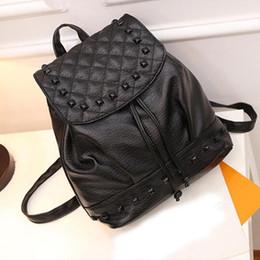 Wholesale Extra Large Gift Bags - WholeTide- Best Gift Hcandice Girl Rivet Leather School Bag Travel Backpack Satchel Women Shoulder Rucksack Drop Ship Bea51111
