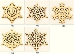 Wholesale Wooden Coffee Mugs - Wooden Snowflake Mug Coasters Holder Chic Drinks Coffee Tea Cup Mat Decor Mats
