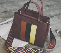 Wholesale Stripe Open Body - Famous Brand Ladies Hand Bags PU Leather Women Bag Stripe Tote Shoulder Bags 2017 Sac New Fashion Luxury Handbags Large Tote Bag