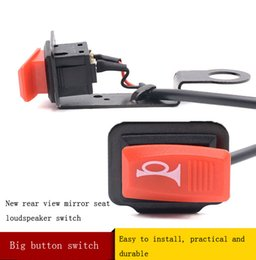 Wholesale Headlight Switches - Motor horn switch refit electric vehicle controller button horn headlight switch accessories. Switch head big, big button, easy