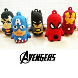 Wholesale Iron Man Pvc - Superhero Keychain The Avengers Spiderman Superman Super Iron Man Hero Key Chains Cartoon PVC Key Ring