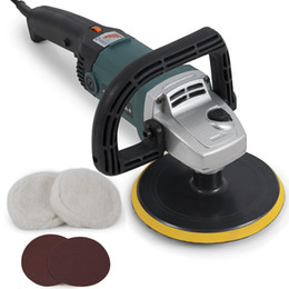 Wholesale New Electric Variable Speed Car Polisher Buffer Waxer Sander Detail Boat NEW New Electric Variable Speed Car Polisher Buffer W