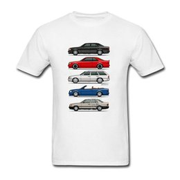 Wholesale Class Clothes Men - Funny Stack of Mercedes W124 E Class Mens Round Collar Shorts Sleeve Clothes Personality Youth T Shirt Maker