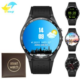 Wholesale Watch Phone Quad - KW88 MTK6580 Android 5.1 OS Smart Watch Phone 400*400 Screen quad core smartwatch Support SIM pedometer heart rate