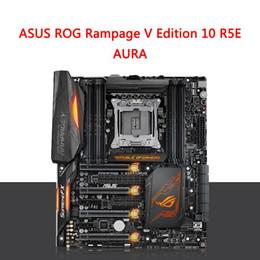 Wholesale Hdmi Usb Computer - ASUS ROG Rampage V Edition 10 R5E Republic Of Gamers Desktop Computer GAMING Motherboard AURA LGA2011 I7 6950X RAM DDR4 3333MHz 128G