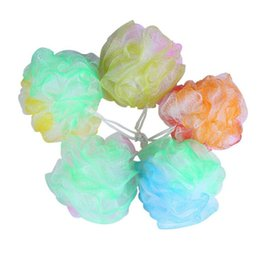 Wholesale Mud Flowers - Three color Flowers large shower bath Flowers bath ball bubble bath brush color of flower into the ball rub mud rub bathe rub Scrubbers I007