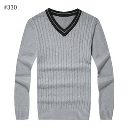 Wholesale polo v neck sweaters - Free shipping 2016 new high quality mile wile polo brand men's twist sweater knit cotton sweater jumper pullover sweater men