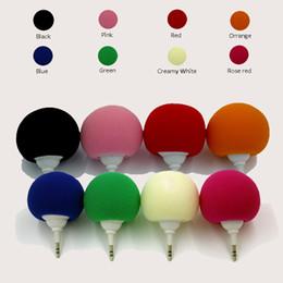 Wholesale Cute Music - Sponge Bobo Ball Mini Speaker 3.5MM Audio Jack Cute Music Charging Stereo Xtreme Loudspeaker for mp3 iPod smart phone