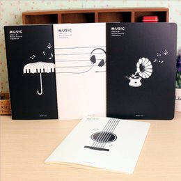 Wholesale Music Stationery Gifts - Wholesale- Music staff notes book Musical notes book note book notepad school supplies cute Novelty stationery