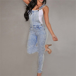 Wholesale Girl S Jeans - Wholesale- Women High Waisted Denim Jeans Overalls Girls Casual Skinny Stretchy Washed Jeans Pants nz17