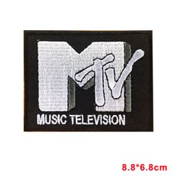 Wholesale Television Wholesales - MTV RETRO MUSIC TELEVISION Iron On Sew On Patch badge motif
