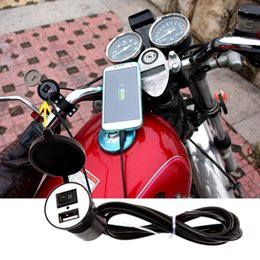 Wholesale Motorcycle Mobile Phone Usb Charger - Wholesale- 12-24V USB Motorcycle Mobile Phone Charger Port Socket USB Waterproof Power Supply Sockets for Motorcycle