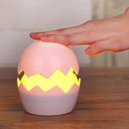 Wholesale Strange Usb - Egg yolk night light led intelligent creative usb table lamp new strange pat children cute cartoon style bedroom
