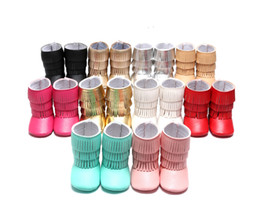 Wholesale Shoes First Steps - Wholesale- 2017 Hot 3 Layer Tassel Moccasins Latest Pu Suede Leather Baby Shoes Newborn Baby Boots Infant First Step Shoes Prewalkers