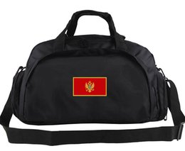 Wholesale College Luggage - Montenegro duffel bag Olympic track play tote Country team flag luggage Football club duffle Handle backpack Sport sling handbag