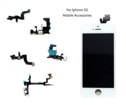 Wholesale Iphone Volume Replacement - For Iphone 5 Switch Power Button Flex Cable ON OFF Mute Switch Volume Buttons Replacement Repair Parts Iphone 5G