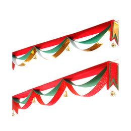 Wholesale Wholesale Supply Showcase - new Christmas decoration wave flag Christmas tree hanging flag Bar shopping malls showcase supplies 3x5 flags