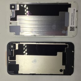 Wholesale Replacement Battery Iphone4 - DHL fee for iphone4 4s rear back battery cover housing for iphone 4G battery back housing cover baking case replacement parts