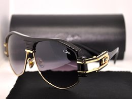 Wholesale Shiny Black Coats - Eyewear Cazals Vintage 671 001 Sunglasses Shiny Black Gold 59mm Cazals Legends Frames Coating Eyeglasses Occhiali da sole With Hard Case