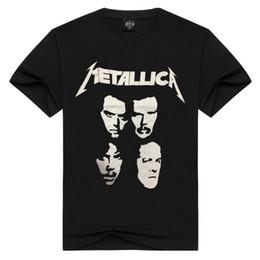 Wholesale Bands Shirts - Hot Sale 2017 New Fashion Design Metallica Metal Band Creative Printing Rock Men's T-shirt Short Sleeve 3D Print T Shirt