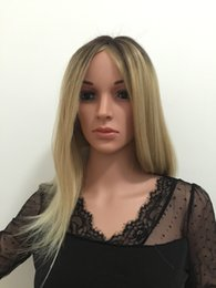 Wholesale Sexy Blond Wig - Women Sexy Long straight blond Synthetic Ombre Synthetic Wigs For Women free shiping