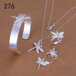 Wholesale Sterling Silver Rings Bracelets Mix - same price mix style women's sterling silverplated jewelry sets,fashion wedding 925 silver Necklace Bracelet Earring Ring jewelry set GTS42