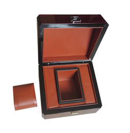Wholesale Wooden Lacquer Jewelry Box - Wooden Stripe Glossy Lacquer Luxury Gift Watch Box&Cases Custom Promotion Event Jewelry Gift Business Boxes Custom LOGO Drop Shipping WB1011