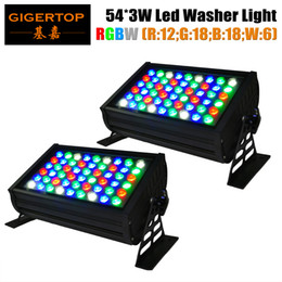 Wholesale Cheap Landscape Lights - Cheap Price 2XLOT Professional UL IP65 LED Wall Washer 54X3W Landscaping Lighting DMX512 RGBW for Stage Background 110V-240V