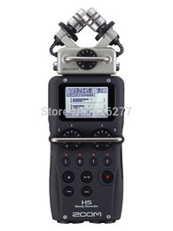 Wholesale Mp3 Tracks - Wholesale-ZOOM H5 professional handheld digital recorder Four-Track Portable Recorder H4N upgraded version Recording pen