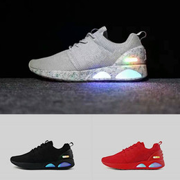 Wholesale Mag Shoes - Authentic Air Mag Low Men's Shoes Led Casual Shoes Glow in the Dark Mens Mag Designer Mesh Breathable Shoes Size 40-45