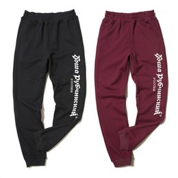 Wholesale Cotton Track Pants Men - Gosha Rubchinskiy track pants fleece joggers sweatpants trousers men women sport parkour winter harajuku overalls military army hip hop 2018