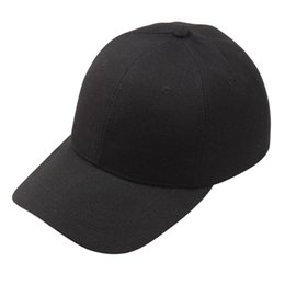 Wholesale Ny Cap Color - Wholesale- Baseball Caps Usa Solid color baseball cap Baseball Cap Ny Gorra Beisbol Hombre