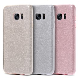 Wholesale Deluxe Phone - Glitter Bling Cell Phone Case Samsung Galaxy S7&S7 Edge High Quality PC TPU Deluxe Cover cellphone Accessories