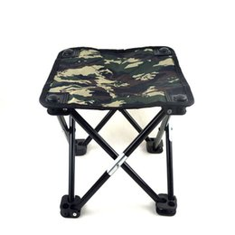 Wholesale Smallest Portable Stool - Wholesale-New 2016 Camouflage Portable Small Fishing Chair Stool Folding Mini Camping Fishing Tackle Cadeira Large Size 29X29X30CM
