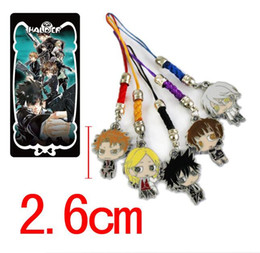 Wholesale Psycho Pass - 5Set lot Anime Psycho Pass Figure Mobile Cell Phone Strap alloy Cartoon Lanyard Chain Metal Pendant New Gift Toys Bag Pendants