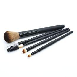 Wholesale Mini 5pcs Makeup Brush Set - Profissional Mini 5Pcs Blue Pink Makeup Brushes Cosmetics Tools Eyeshadow Eye Face Makeup Brush Gift Set Blush Soft Brushes Kit