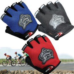 Wholesale Bike Racing Gear - Wholesale Cycling Gloves Motorcycle Bike Half Finger Gloves Bicycle Riding Racing Sport Gears Breathable Free Shipping