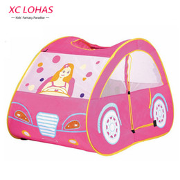 Wholesale Outdoor Indoor Games For Kids - Wholesale- Fashion Cute Pink Kids Toy Tent Play Game House Waterproof Outdoor Indoor Girls Play House Tent Toys for Children Fast Shipping