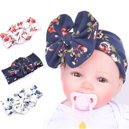 Wholesale Cheap Twist Hair - Knot Headband baby hair Big bow Headbands Knit bohemian Baby girl Hair band headscarf Ornaments Toddler girls Head Wrap Twisted 2016 Cheap