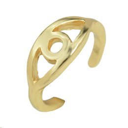 Wholesale Matching Wedding Rings - New Fashion Accessories Classic All-match Eyes Small Ring Multi Colored Rings