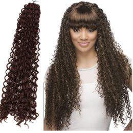 Wholesale Synthetic Bulk Hair For Braiding - Freetress synthetic braiding hair water wave,curly crochet hair freetress bulk for braiding,crochet hair braids for black women