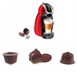 Wholesale Basket Plastic - 1pc Use 150 Times Refillable For Dolce Gusto Coffee Nescafe Reusable Capsule