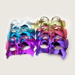 Mädchen schmetterling maske online-Neue Schmetterling Maske Cartoon für große Kinder Frau Männer Halloween halbe Maske Weihnachtsfeier Maske Mädchen Party liefert