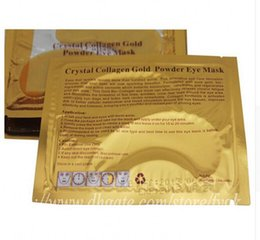 Wholesale Dark Masks - New Brand High quality Crystal Collagen Gold Powder Eye Mask Crystal Eye Mask Eyes masks Dark circle moisture