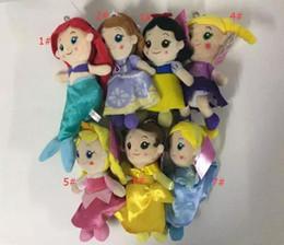 Wholesale Little Mermaid Dolls - Cinderella Plush Toy Princess Dolls The Little Mermaid Stuffed Doll Soft 7 style Baby Toy Gift size 20-26cm A 080