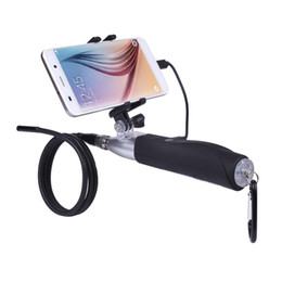 Wholesale Borescope Android - AK Hard Tube Waterproof Endoscope Android USB Inspection Camera Borescope 6LED USB Endoscope Camera Snake Tube Pipe Borescope
